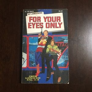 "Vintage Illustrated Stan Lee ""For Your Eyes Only"""